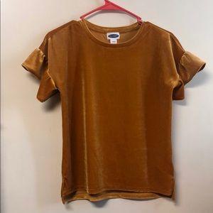 Gold velvet shirt